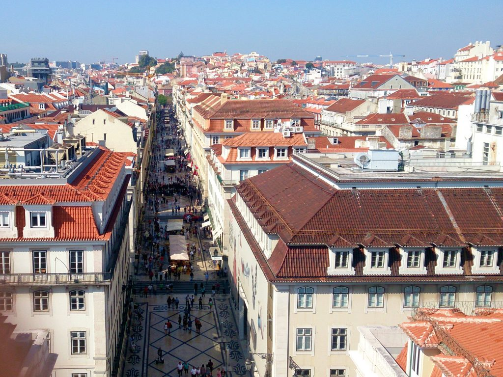 View From the Arch of Rua Agusta, Lisbon, Portugal