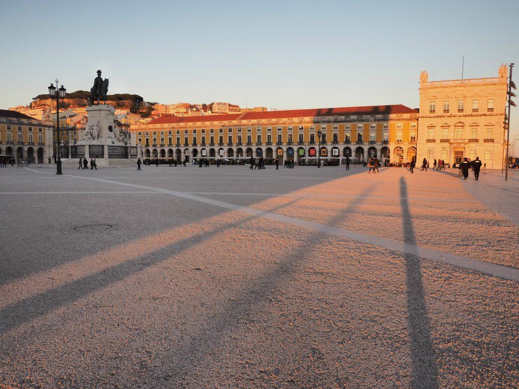Sunset at Praça do Comércio, Lisbon, Portugal