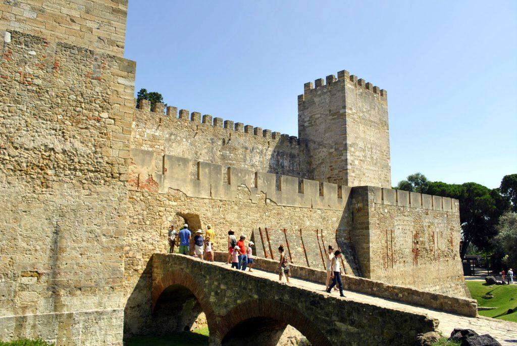 St. George Fortess Walls, Lisbon, Portugal