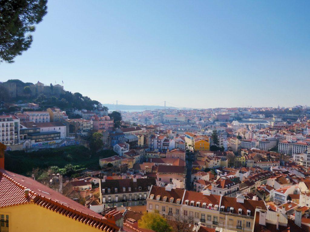 View from Grаça Esplanade and Café, Lisbon, Portugal