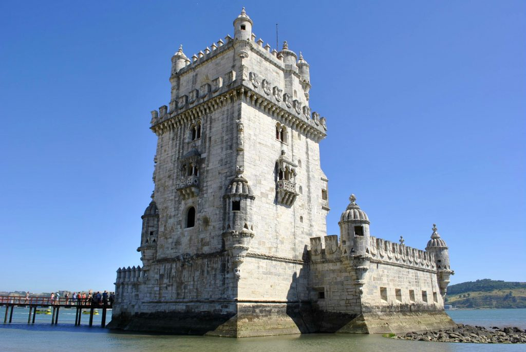 The Tower of Belem that used to be a prison, Lisbon, Portugal