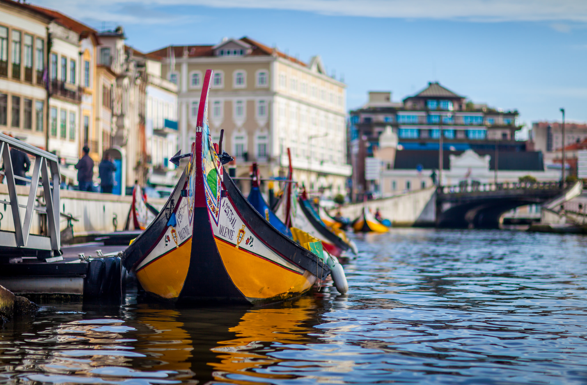 Aveiro and its traditional Moliceiro boat, Portugal. Photo by Tiago Ferreira.