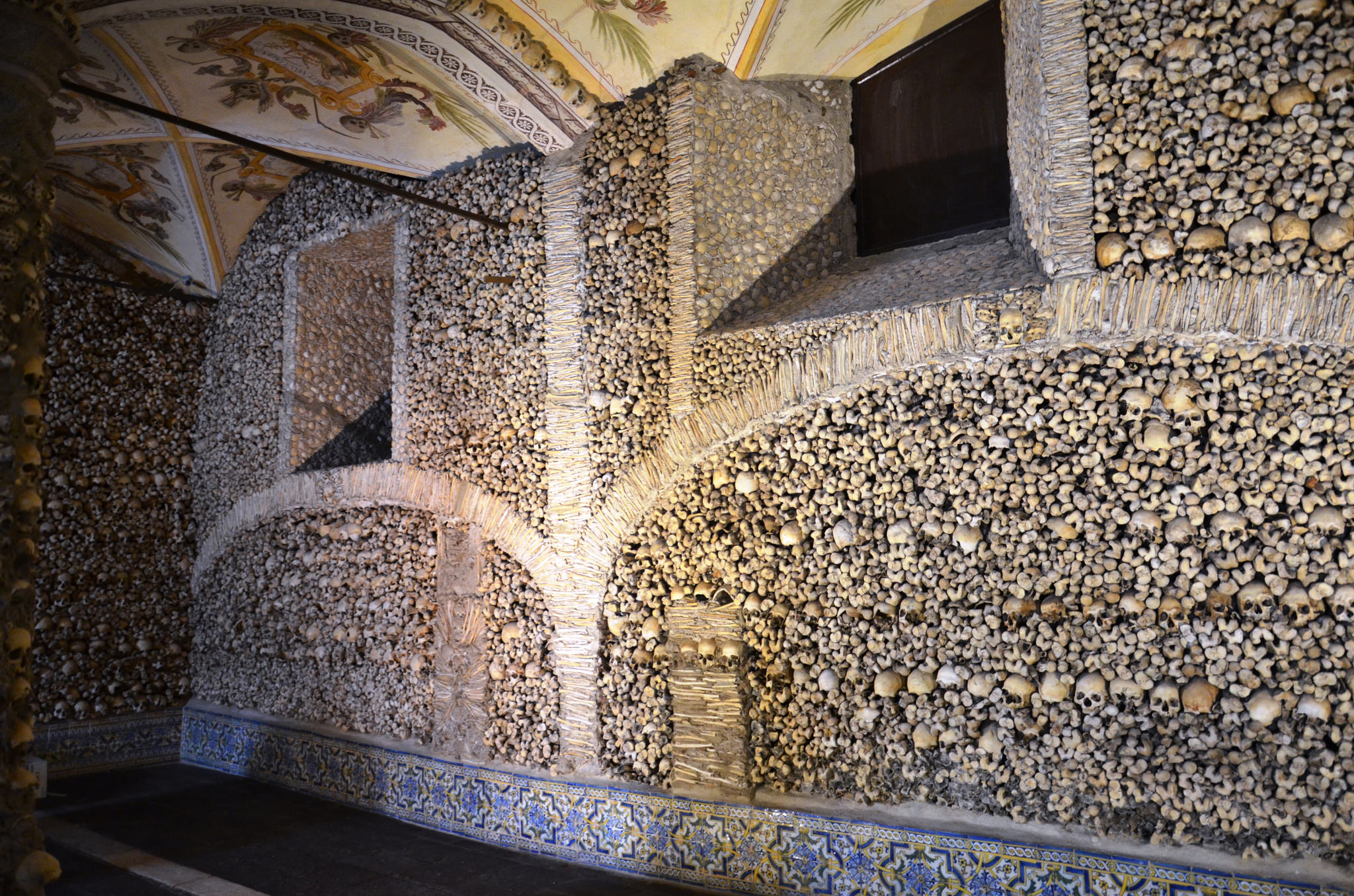Capela dos osos, skull and bones chapel in Evora, Portugal
