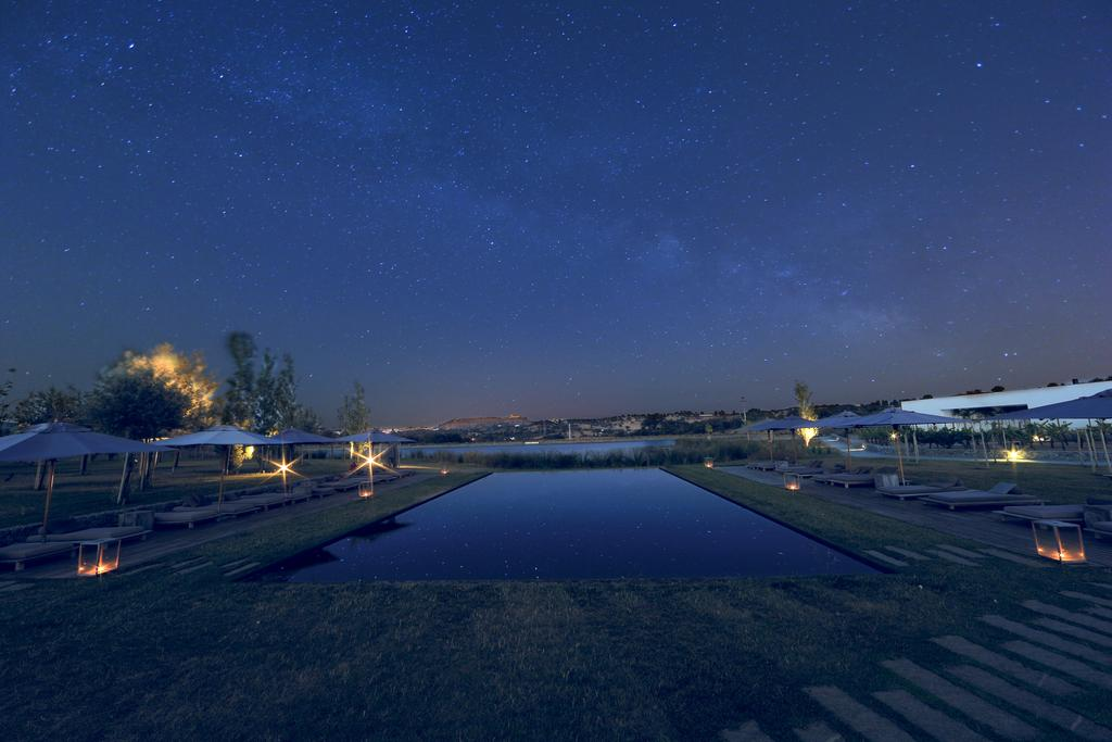 A starry sky at L'AND Vineyards Hotel in Montemor-o-Novo, near Evora, Portugal