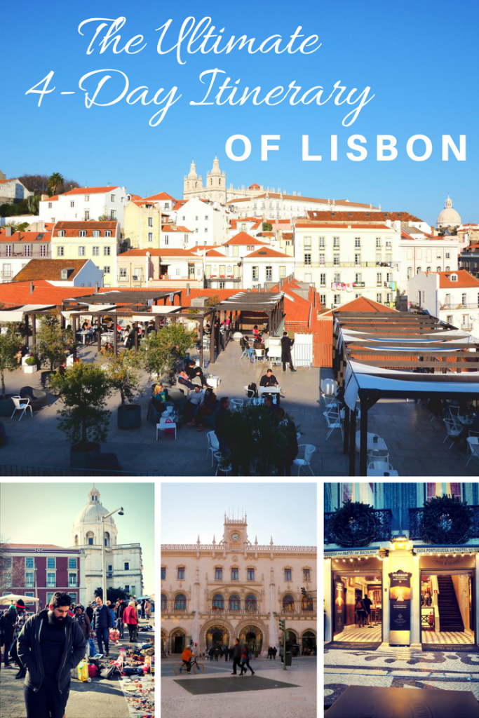 An actionable 4-day itinerary of Lisbon including the best sights of the city.