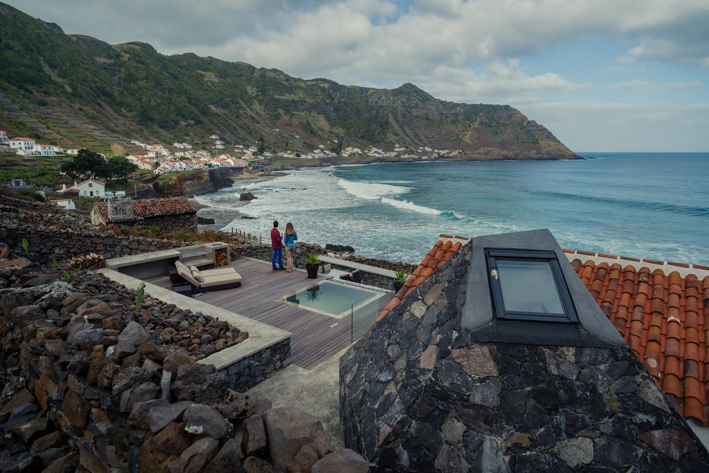 Santa Maria Island and Vigia da Areia home, overlooking the sea, Azores, Portugal