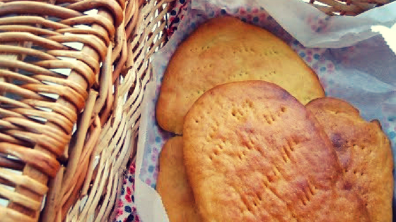 Bica, traditional Portuguese olive oil bread