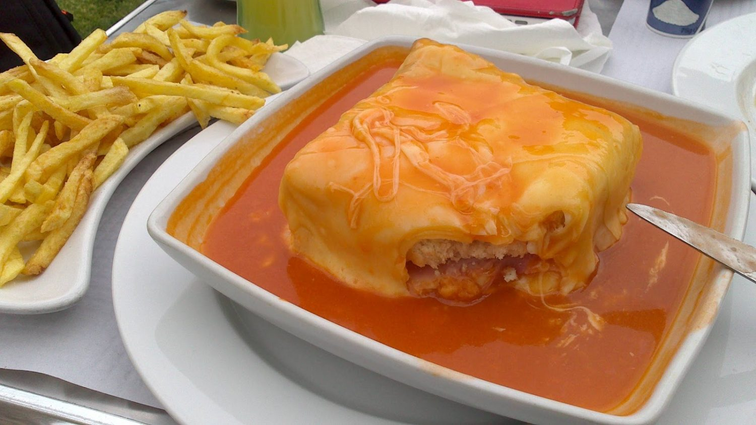 Francesinha is a typical dish from Porto, fatty and yummy.