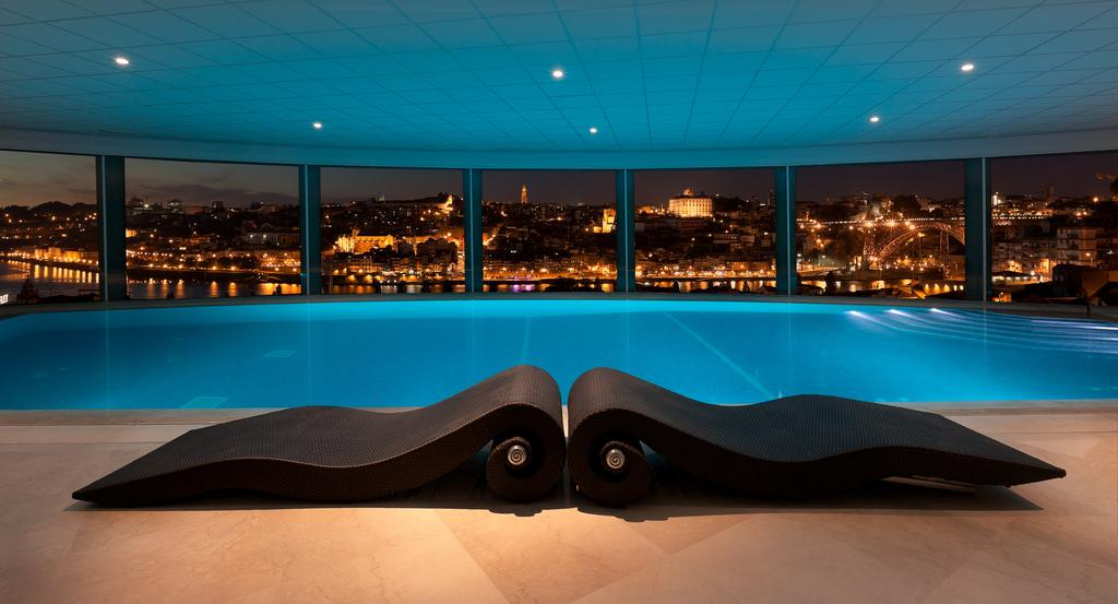 View from the pool Yeatman Hotel in Porto