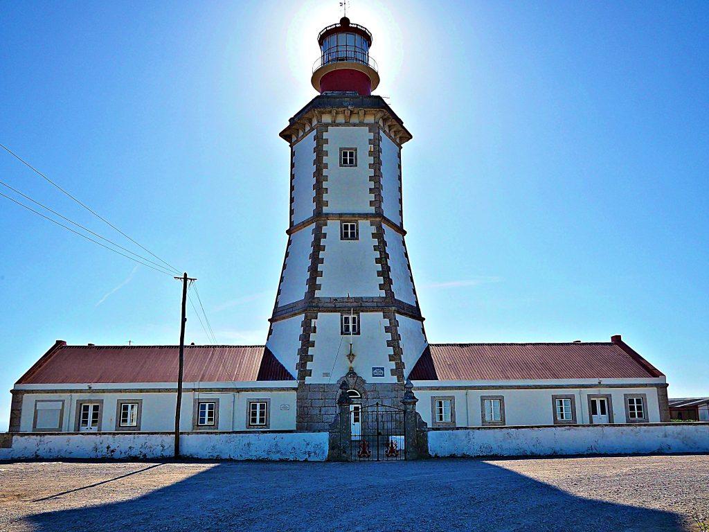A lighthouse on Cape Espichel, Setubal. Portugal
