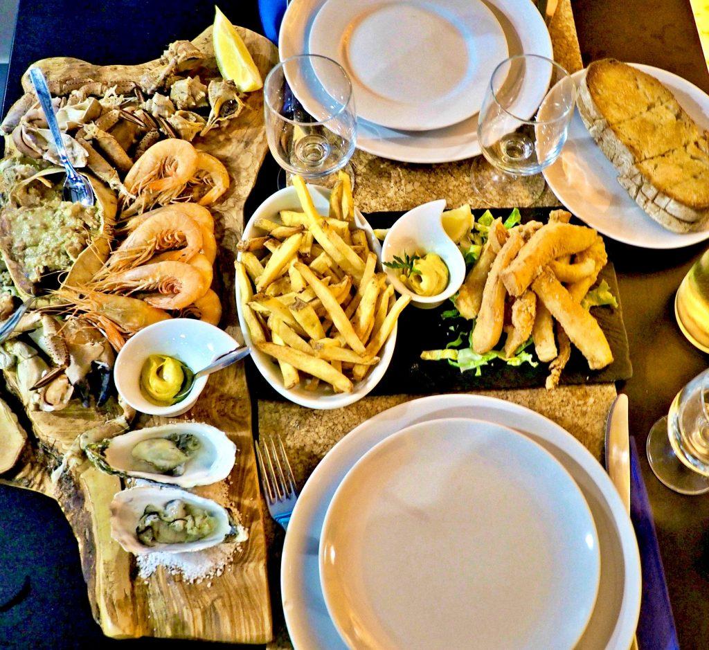 Seafood in Setubal, Portugal