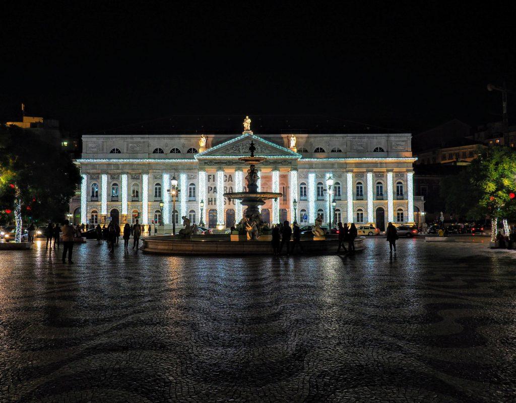Christmas Lights Of Lisbon