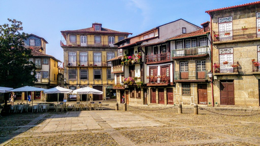 The medieval center of Guimaraes, Portugal.