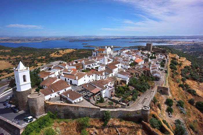 A view from above to the pretty Monsaraz village in Portugal
