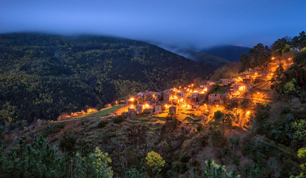 Talasnal village at night