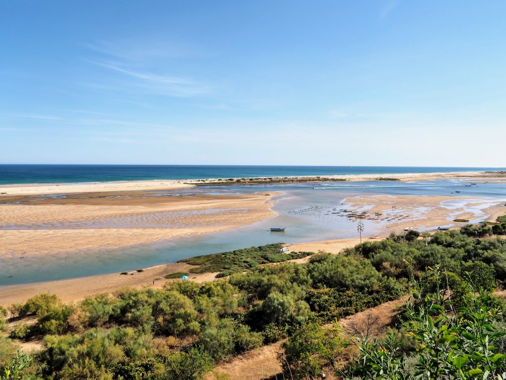 Lagoon and ocean, Cacela Velha, Portugal