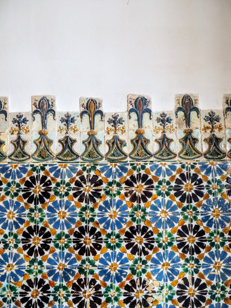 Colorful tiles in National Palace of Sintra