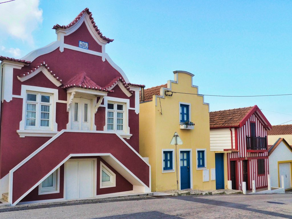 Colorful Buildings in Costa Nova