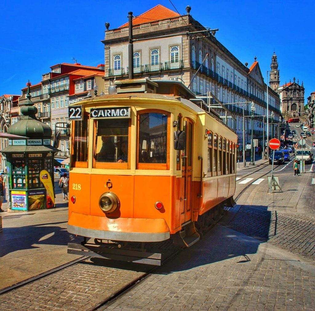 Tram Porto city