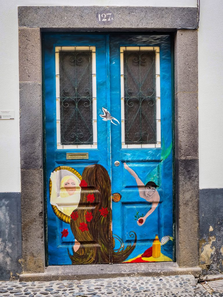 The painted doors in the old town