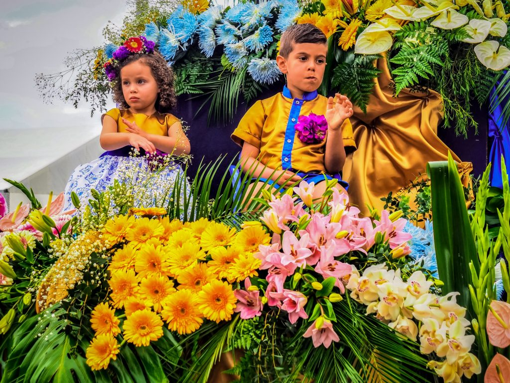 Kids Enjoying in Festa da Flor