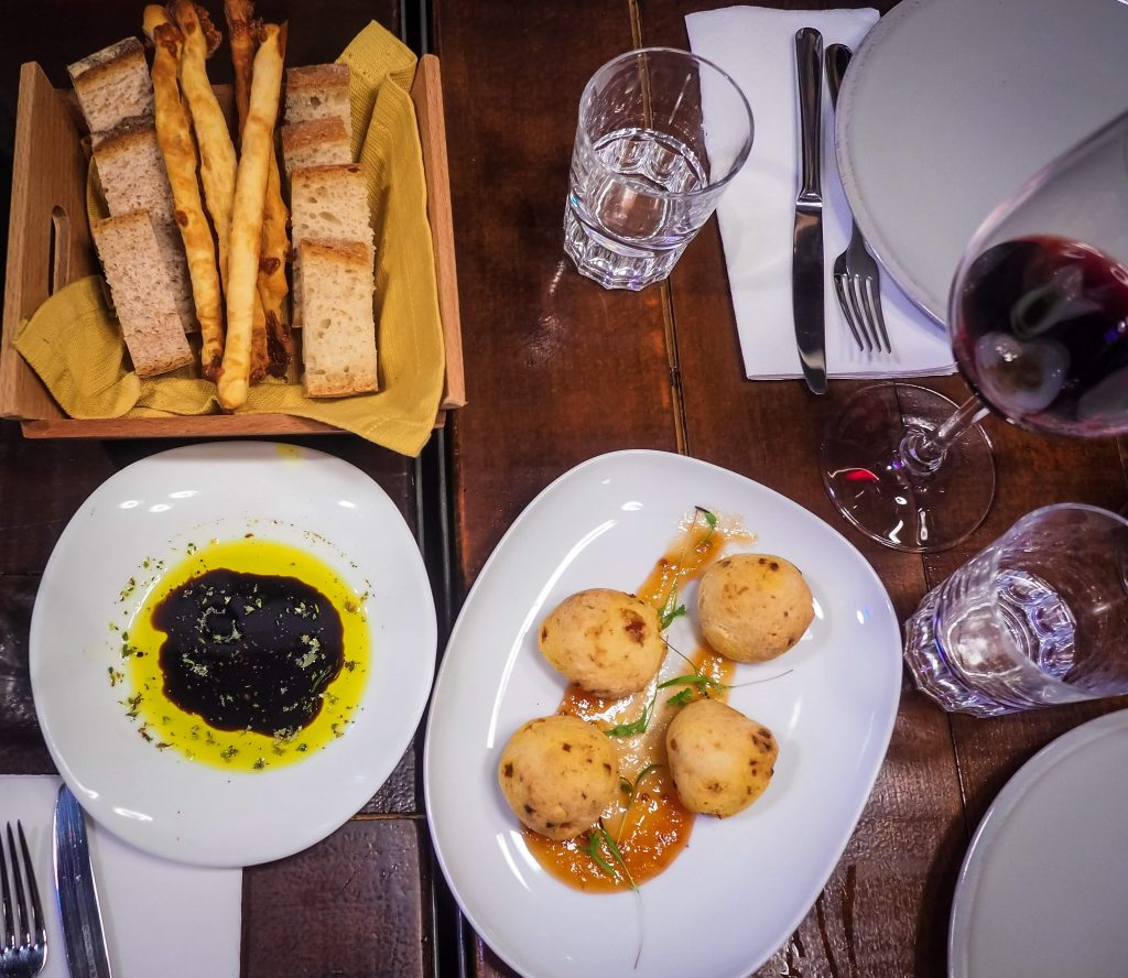 Breads, Olives and Wine