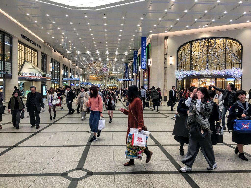 Umeda station shopping malls