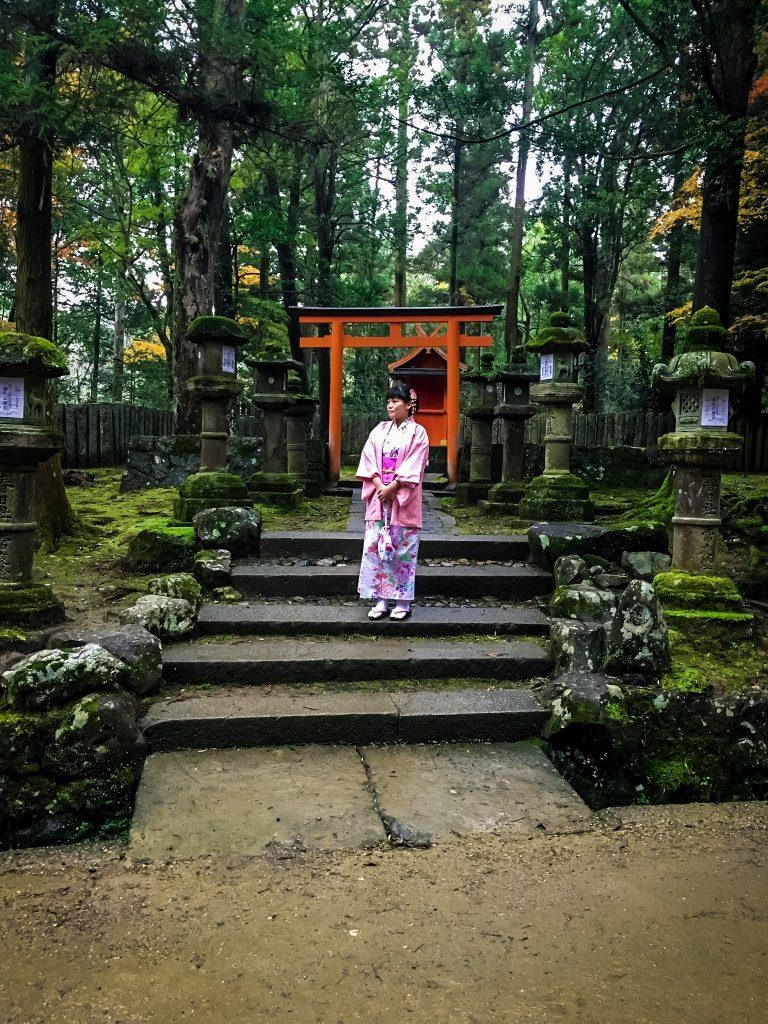 Woman standing in Nara Park