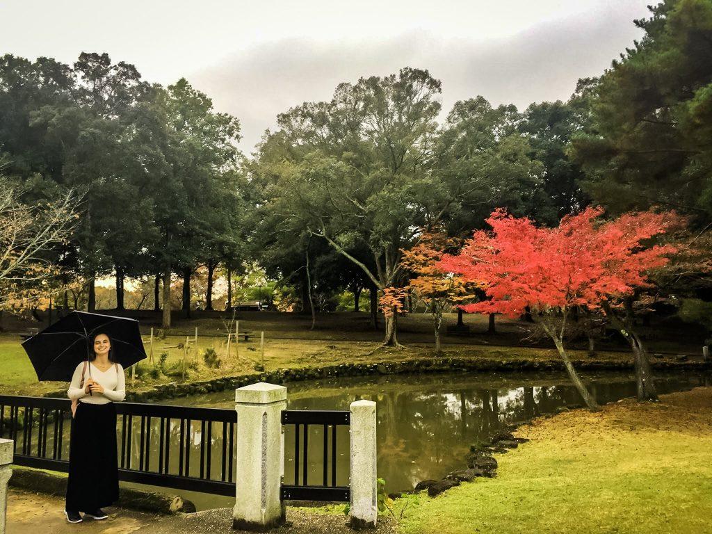 Me with Umbrella in Nara Park