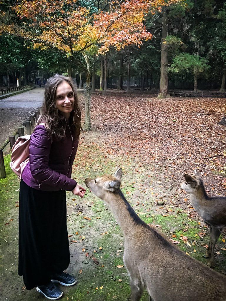 Me with deers in nara Park