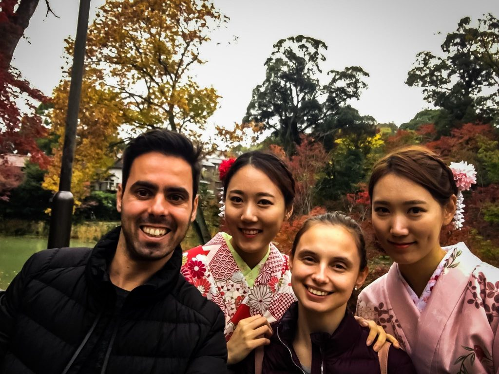 me with locals in Kyoto