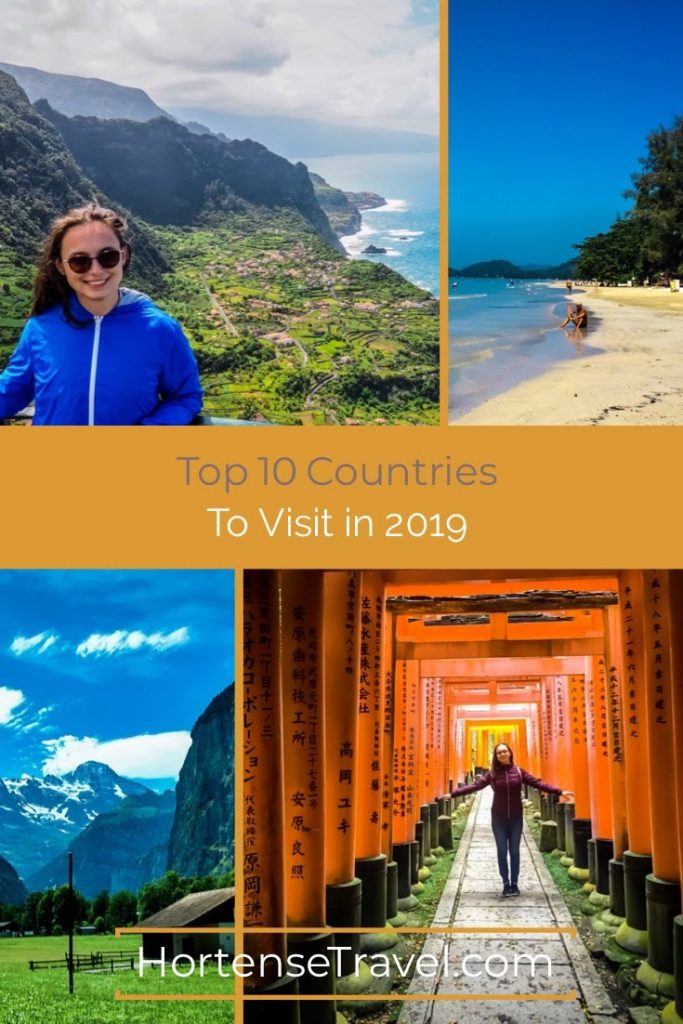 Top 10 Countries to visit in 2019-Pin