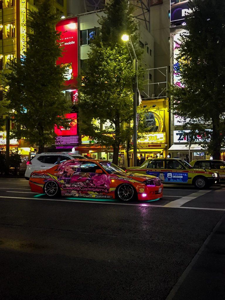 Cars inAkihabara