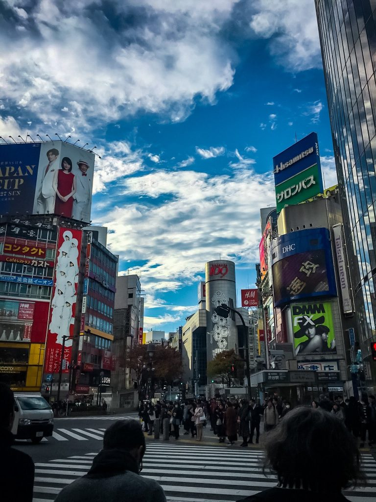 Busy Street in Shibuya