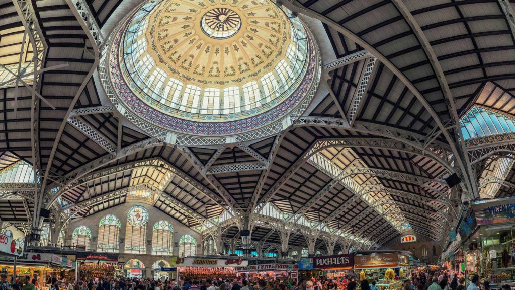 Mercado Central is the holy ground of food lovers in Valencia allows you to buy the best produce for a fraction of what you'd pay in northern European countries.