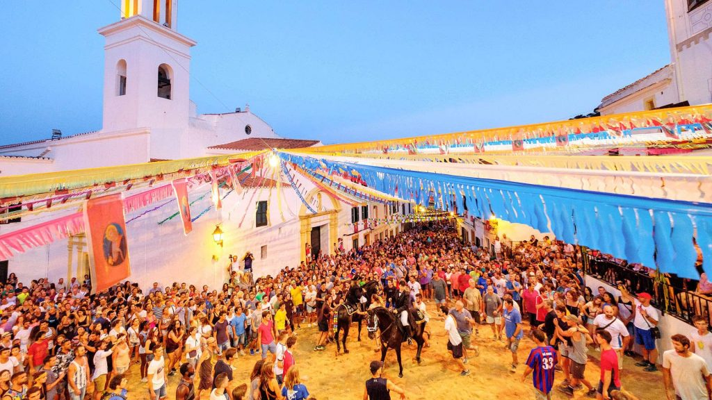 Party during the Fiestas de Menorca