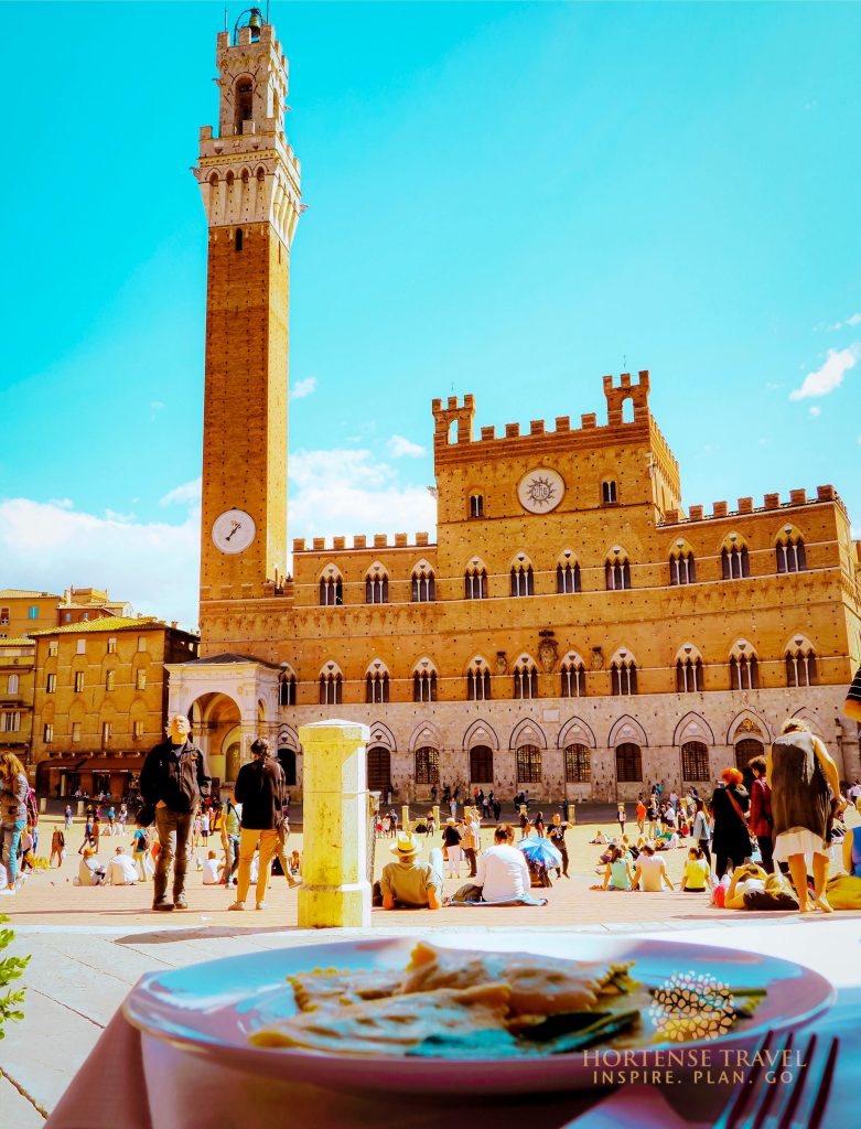 Clock Tower in  Siena