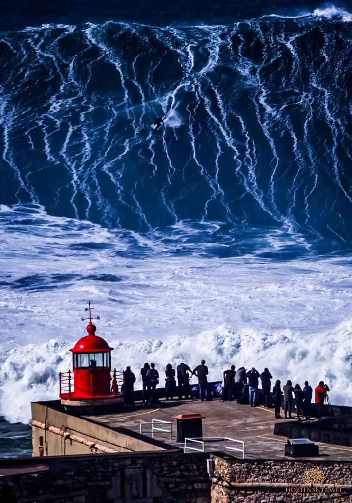 Gigantic waves of Nazare, Portugal in Winter