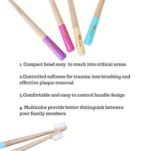 GoWoo 100% Natural Bamboo Toothbrush