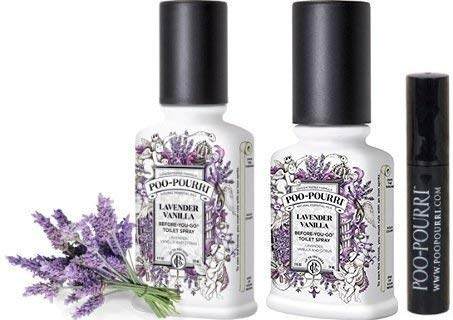 Poo-Pourri Bathroom Deodorizer Set 3 Piece Lavender Vanilla - Hortense Travel