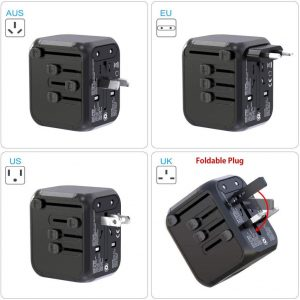 Glamfields Travel Adapter Worldwide - Hortense Travel
