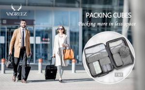 Packing Cubes VAGREEZ 7 Pcs Travel Luggage Packing Organizers Set With Laundry Bag - Hortense Travel