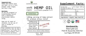 Essential Hemp Extracts 100% Organic CBD Oil