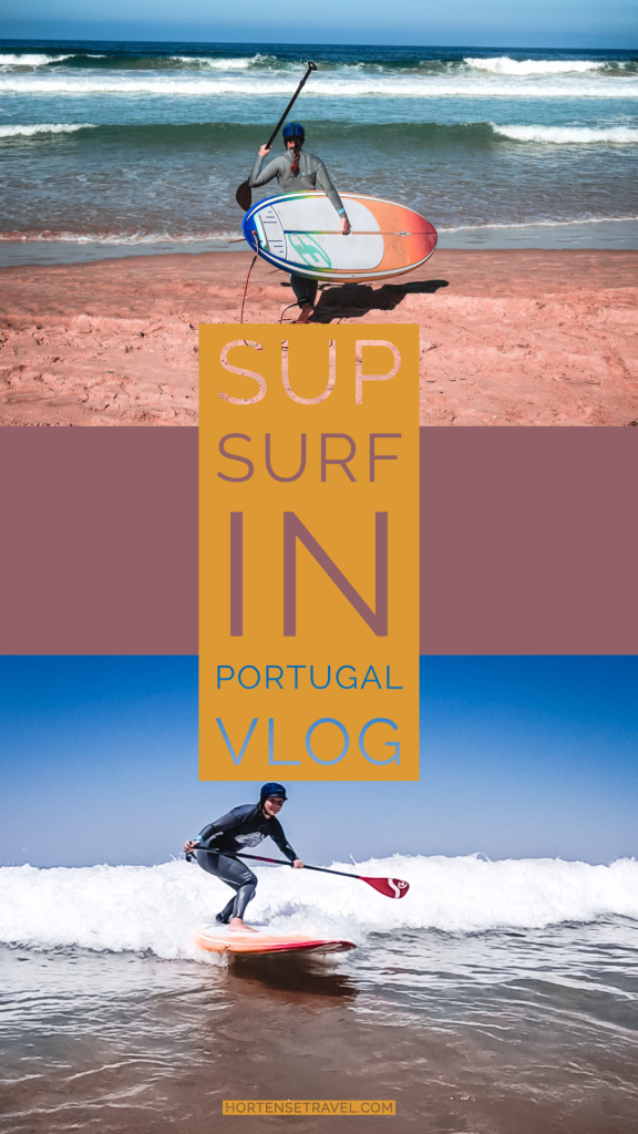 Learning How To SUP Surf In Costa Da Caparica, Portugal - Hortense Travel